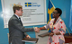 Swedish Ambassador Hans Henric Lundquist and UNFPA Country Representative Dr. Mary Otieno seal a new cooperation for the new UNFPA Country Programme in South Sudan. ©Mandela Nelson Denis