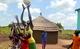 Girls play ball in the Ayilo Refugee Settlement